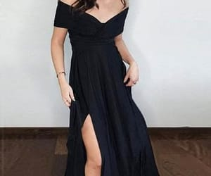 black dress, dress, and fashion image