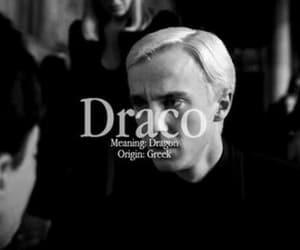 draco malfoy, harry potter, and hogwarts image