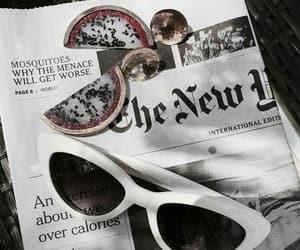 theme, sunglasses, and newspaper image