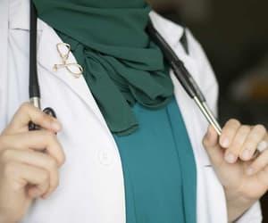 doctor, hijab, and job image