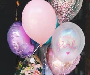 balloons, happy birthday, and шарики image
