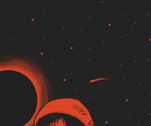 drawing, orange, and space image