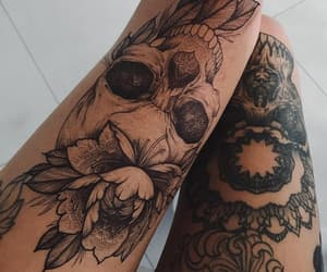tattoo, skull, and art image