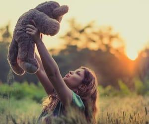 affection, hug, and sunset image