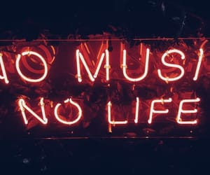 music, neon, and life image