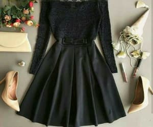 a-line, black, and classic image