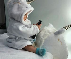 baby, cute, and unicorn image