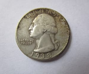 George Washington, quarter, and 25 cents image