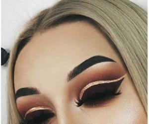 aesthetic, blonde, and smokey eyes image