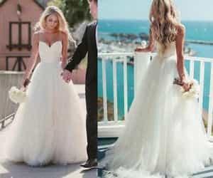 bridal gown, wedding dress, and beach wedding dress image
