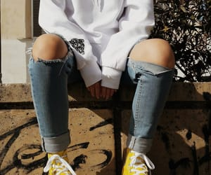 accessories, yellow, and converse image