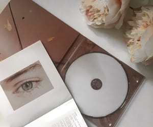 album, flower, and green eyes image