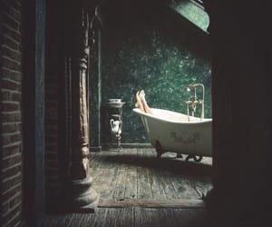 aesthetic, bathtub, and green image