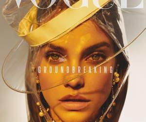 magazine cover, vogue, and supermodel image
