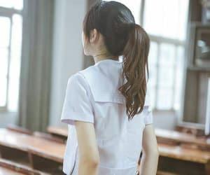 girl, school, and uniform image