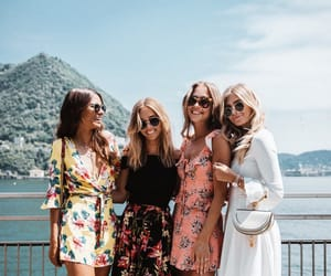 friends, fashion, and summer image