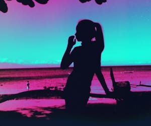 barbie, neon, and sunset image