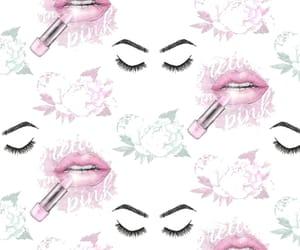 background, eyelashes, and flowers image