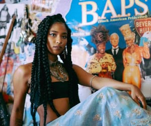beauty, box braids, and black girl image