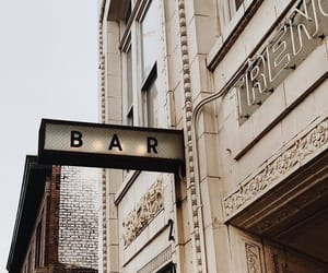 bar, city, and drink image