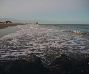 beach, california, and evening image