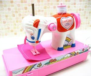 machine, sew, and unicorn image