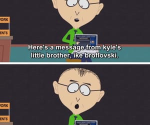 lol, South park, and kyle broflovski image
