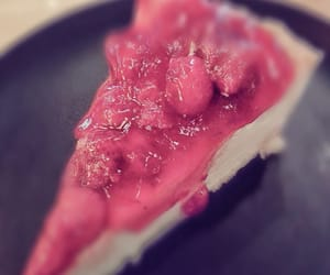 cheesecake, delicious, and strawberry cheesecake image