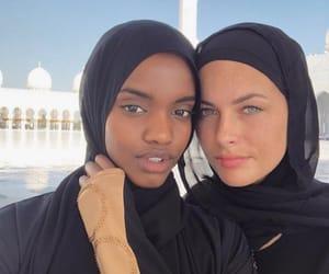 best friends, muslim, and friends image