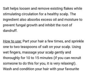 salt, scrub, and anti-dandruff image
