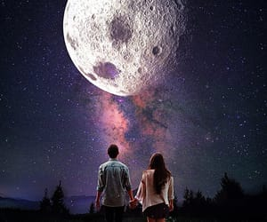 galaxy, romance, and me and you image