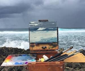 art, artsy, and ocean image