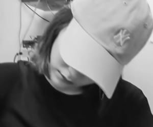aesthetic, kpop, and black and white image