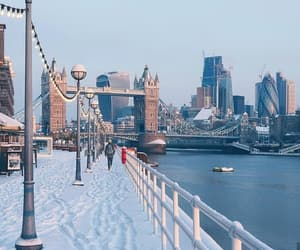 london, winter, and city image