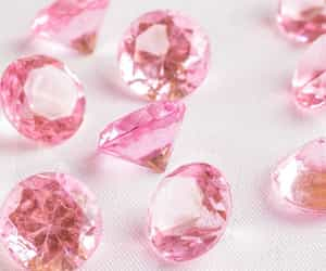 diamand, diamond, and rosa image
