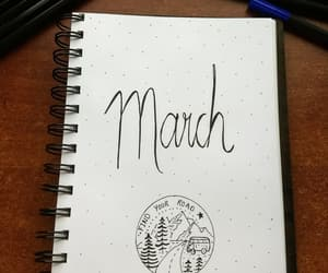 march and bullet journal image