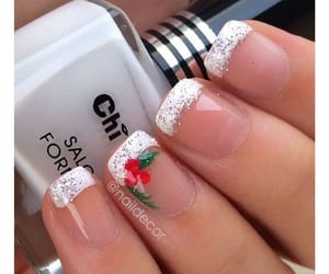 christmas, manicure, and nails image