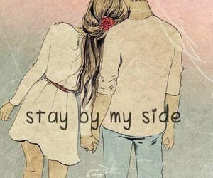 love, couple, and stay image
