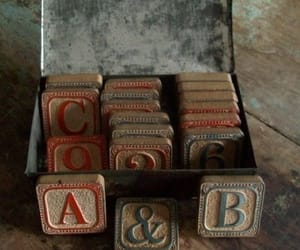 alphabet, toys, and vintage image