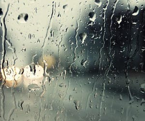 photo, raining, and window image