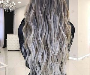 grey, hair, and hairstyle image