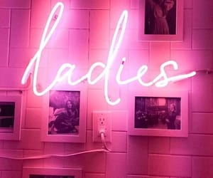 colors, neon, and ladies image