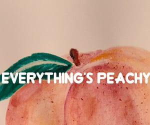 quote and peach image
