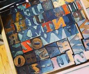 letterpress, wooden, and letters image