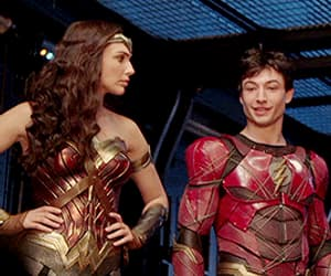 gif, ezra miller, and wonder woman image