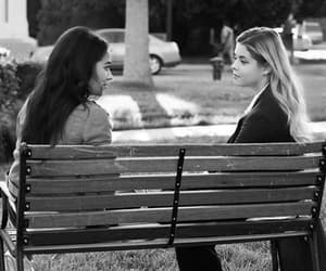 black and white, pretty little liars, and couple image