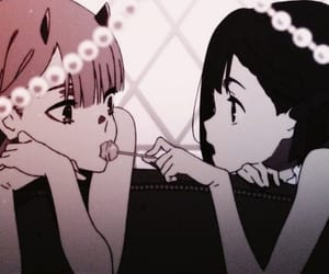 anime, kawaii, and zero two image
