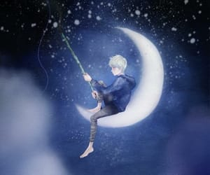 jack frost, boy, and moon image