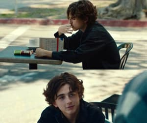 lady bird and timothee chalamet image