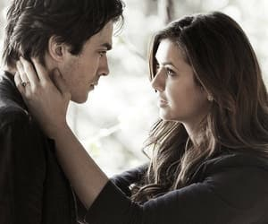 delena, elena gilbert, and damon salvatore image